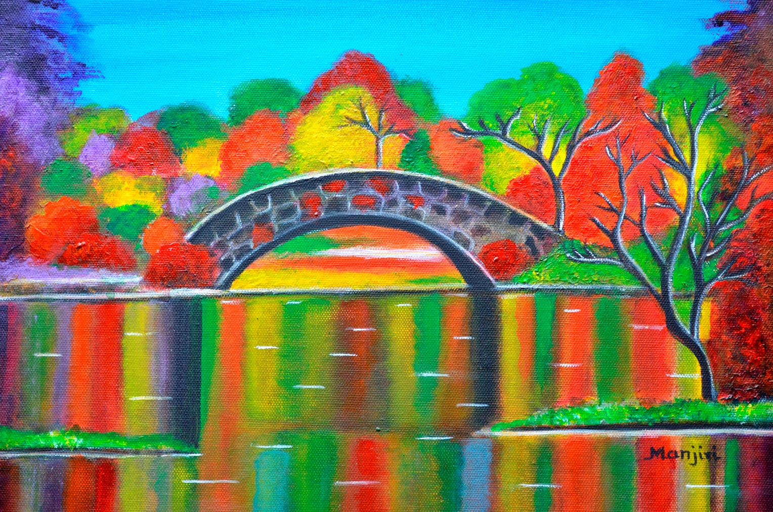 Autumn Glory colorful landscape on canvas