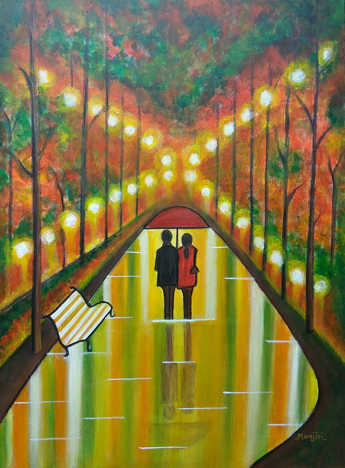 FOR TWO FOREVER ROMANTIC PAINTING