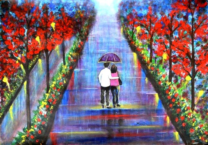 LOVE BLOSSOMS ROMANTIC PAINTING VALENTINE GIFT