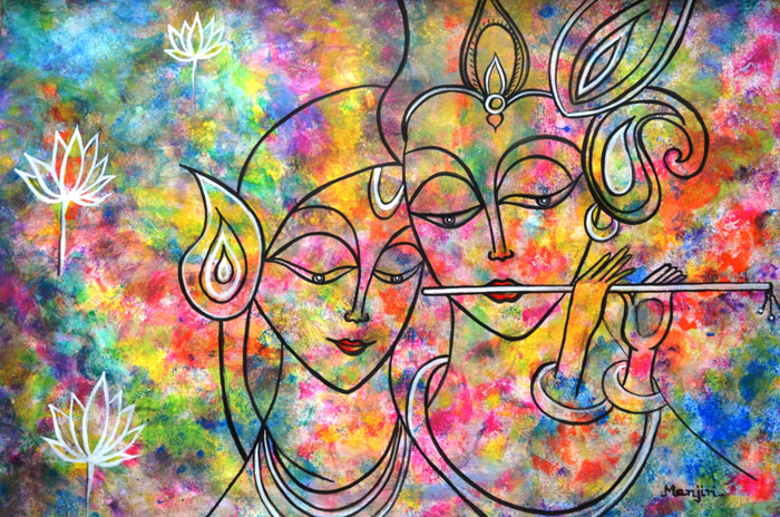 RADHA KRISHNA HOLI ABSTRACT