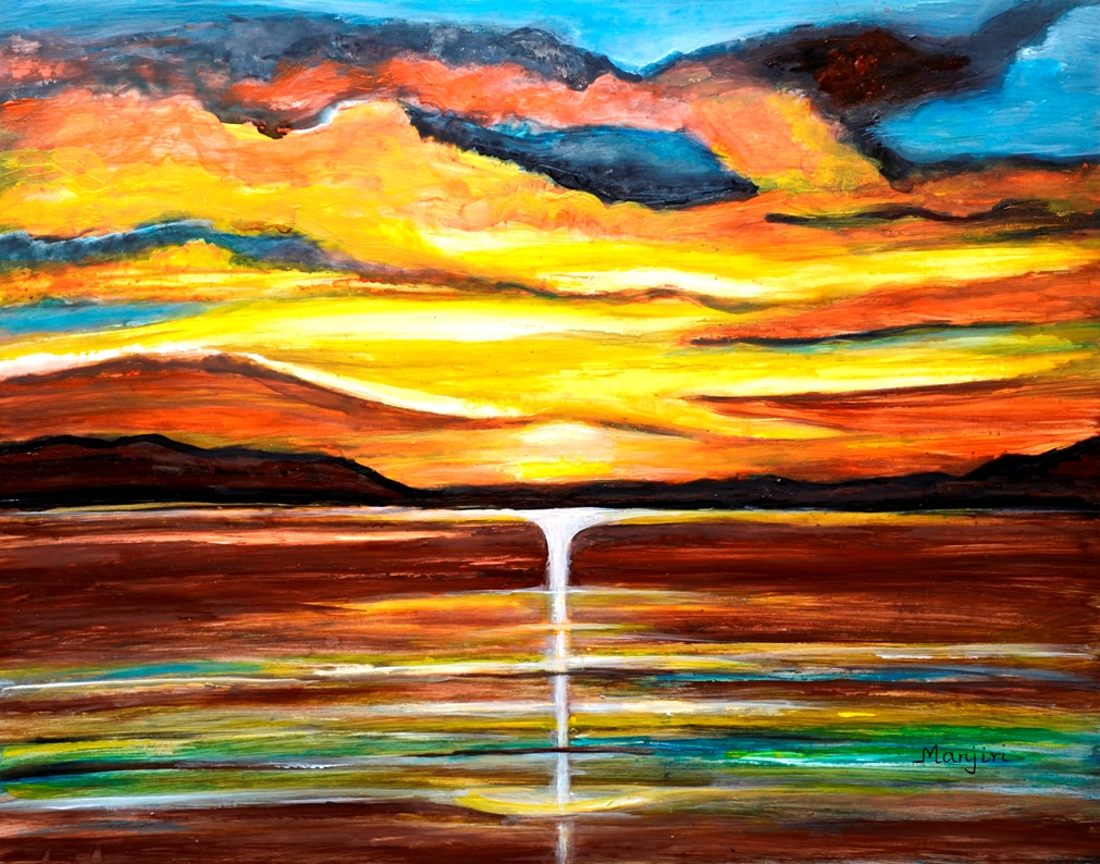 The New Sunrise vibrant sunrise painting